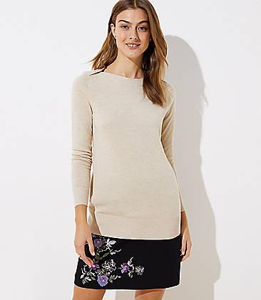 52d6ece49 Shoulder Button Tunic Sweater