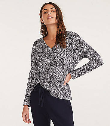 af1cd51ef044a Lou   Grey Marlknit V-Neck Top