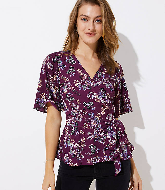 Bloom Wrap Blouse by Loft