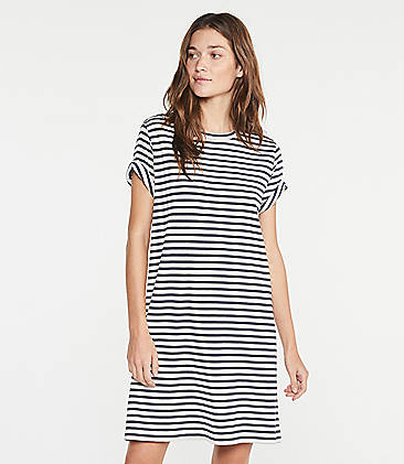 7bbd8990b6 Lou   Grey Striped Conscious Cotton Tee Dress
