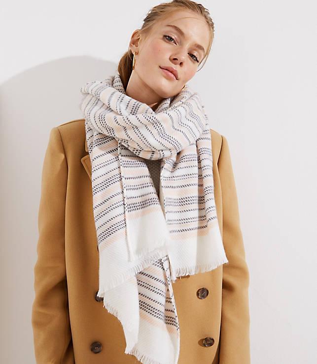 Striped Blanket Scarf  b677bd10b