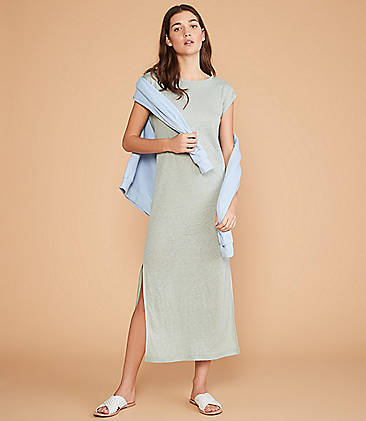 48f81e2598892 ... 79.50 Lou   Grey Linen Midi Tee Dress