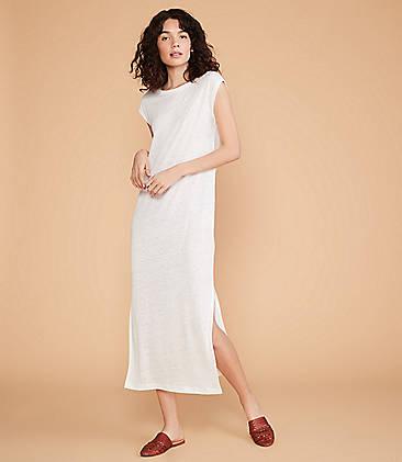 8472074b915f ... 79.50 Lou   Grey Linen Midi Tee Dress