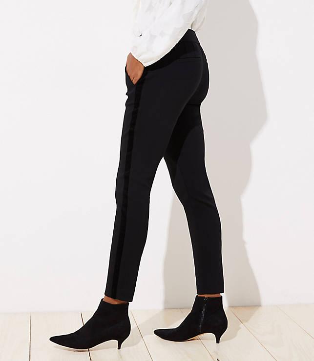 Petite Skinny Velvet Stripe Ankle Pants in Julie Fit