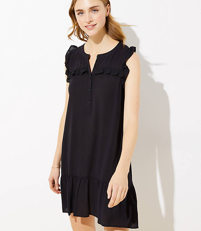 Loft Beach Ruffled Henley Dress by Loft