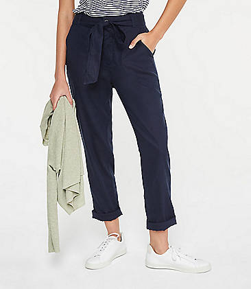 be8472c8ee Lou   Grey Softstretch Linen Tie Waist Pants