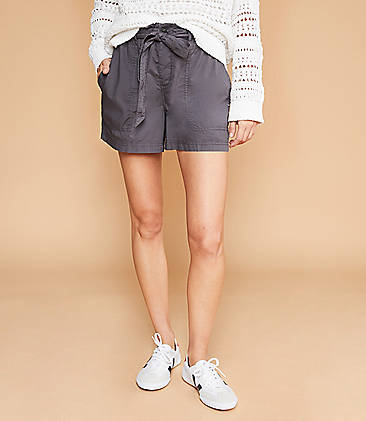 e8112d5a Lou & Grey Poplin Tie Waist Shorts