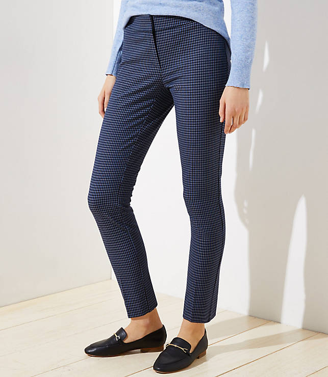 Petite Skinny Ankle Pants in Check in Julie Fit
