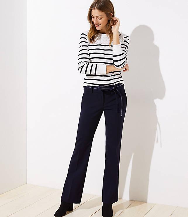 3d1de38cc55180 Tall Trousers in Tie Waist in Marisa Fit | LOFT