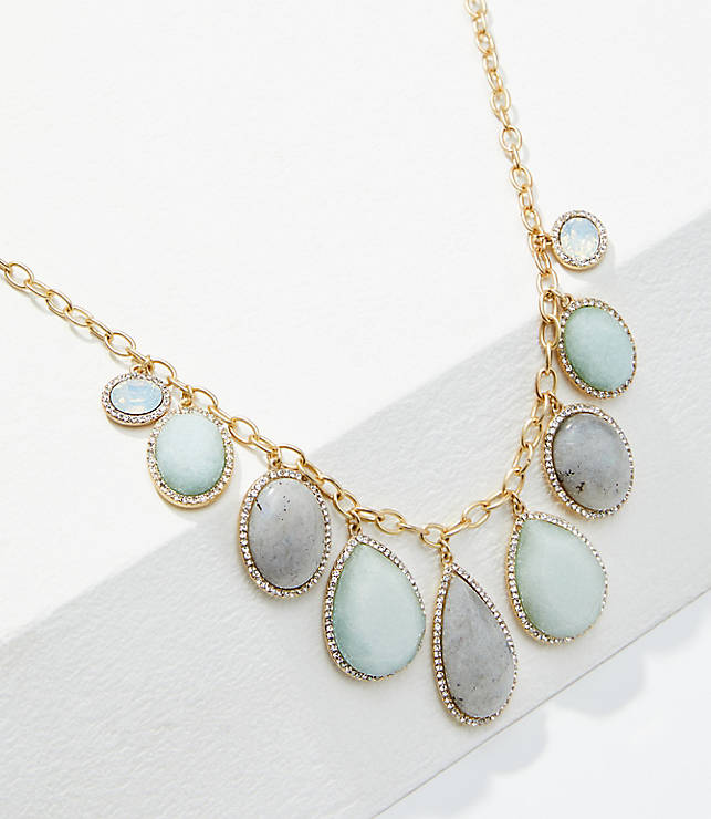 Pave Stone Statement Necklace by Loft