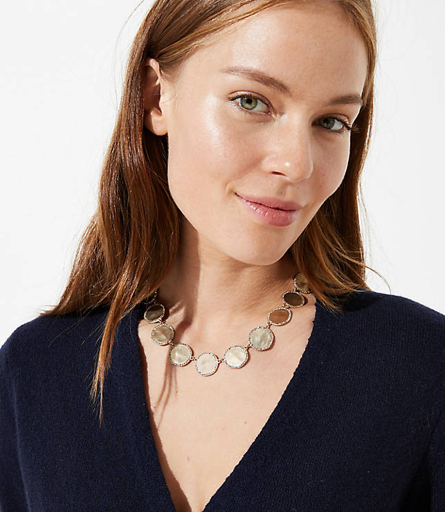Pave Drop Statement Necklace by Loft