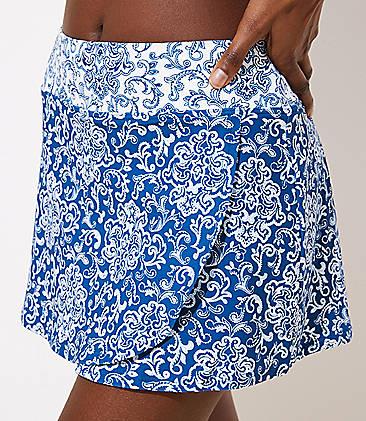 54f25494f0 LOFT Beach Paisley Wrap Swim Skirt