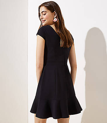 8dfeb52e09 ... Ponte Flounce Flare Dress