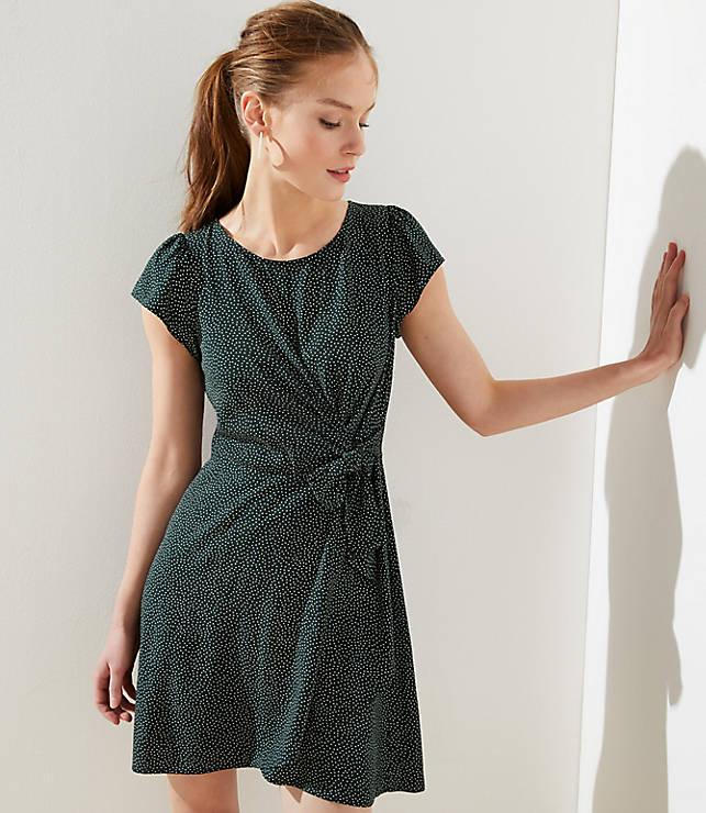 2755c104836c Dotted Wrap Skirt Flutter Dress