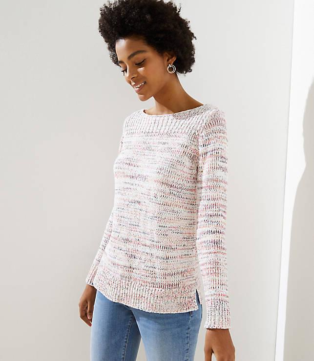 Petite Marled Boatneck Sweater