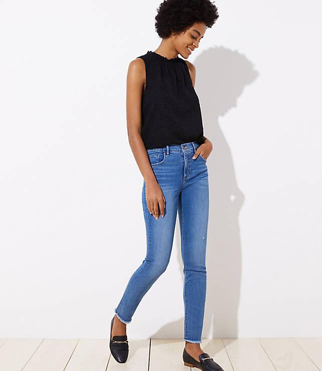 Petite Modern Soft Skinny Jeans in Pure Mid Indigo Wash