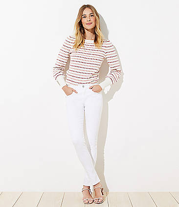 Denim Jeans For Women Ripped High Waisted Skinny Loft
