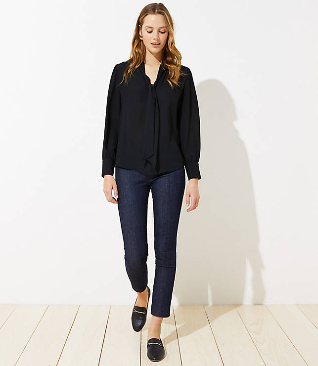 Petite Pull On Skinny Jeans in Rinse Wash