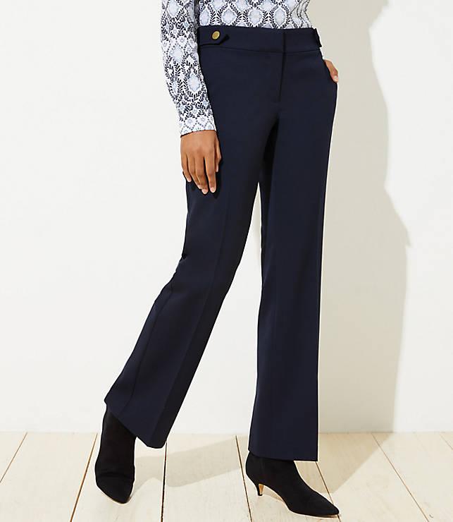 Trousers In Button Tab Waist In Julie Fit by Loft