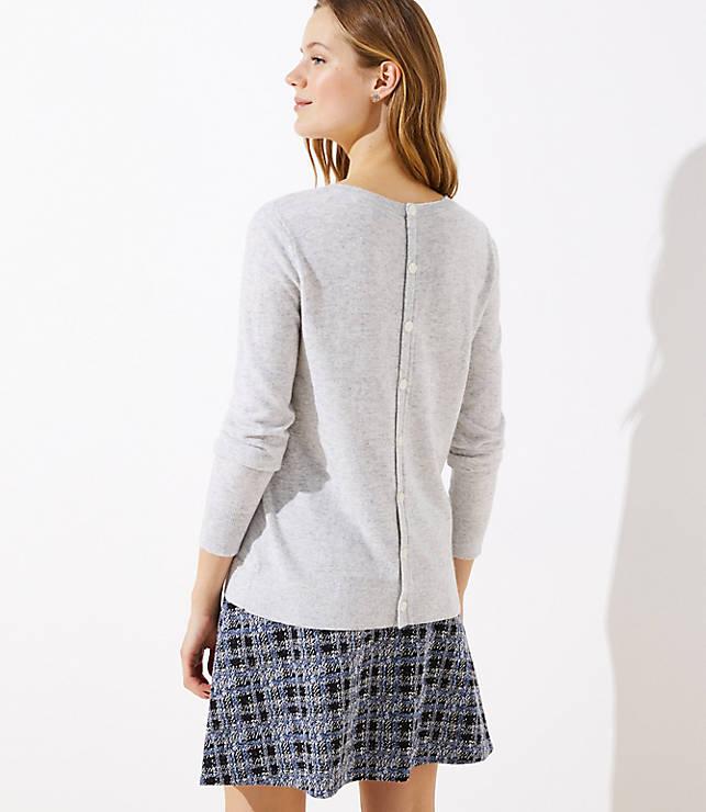 Petite Button Back Sweater