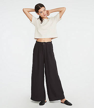 28c3e261ac00d ... 89.50 Lou   Grey High Waist Wide Leg Linen Pants