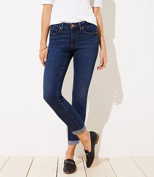 15d6b07e Curvy Soft Slim Pocket Skinny Crop Jeans in Authentic Dark Indigo Wash