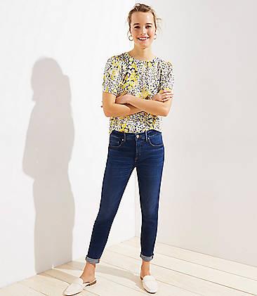 9cc79b153e9 Petite Modern Soft Slim Pocket Skinny Crop Jeans in Authentic Dark Indigo  Wash