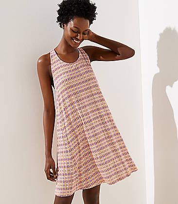 9387a29db4e LOFT Beach Mosaic Swing Dress