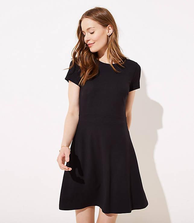 a9c88d29a2e Ponte Flare Pocket Dress