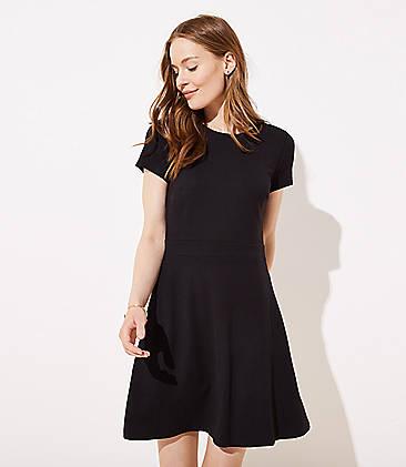 00ae646e8e9 Ponte Flare Pocket Dress