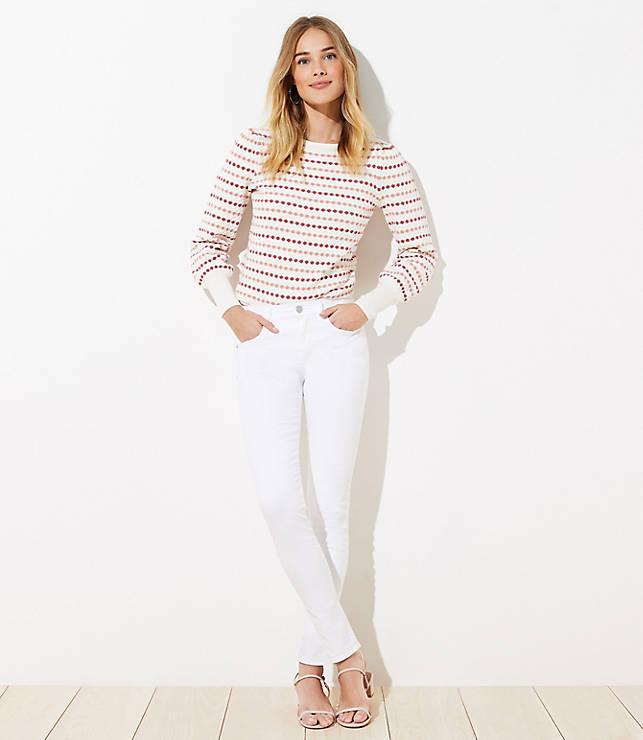 Petite Modern Slim Pocket Skinny Jeans in White
