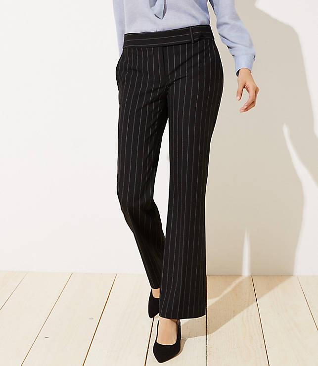 Petite Trousers in Pinstripe in Marisa Fit