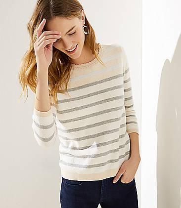 7121847e98f Mixed Stripe Sweater