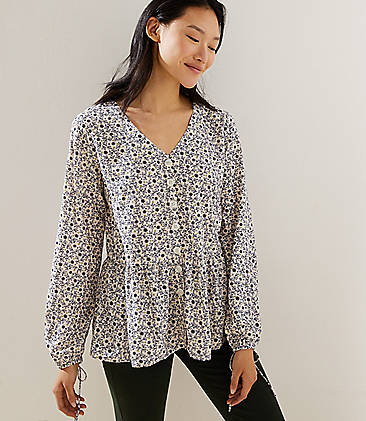 ccacc3910531ad Pink Petite Long Sleeve Shirts & Tops for Women | LOFT
