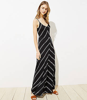 1c3ea01223c6 Chevron Strappy Maxi Dress