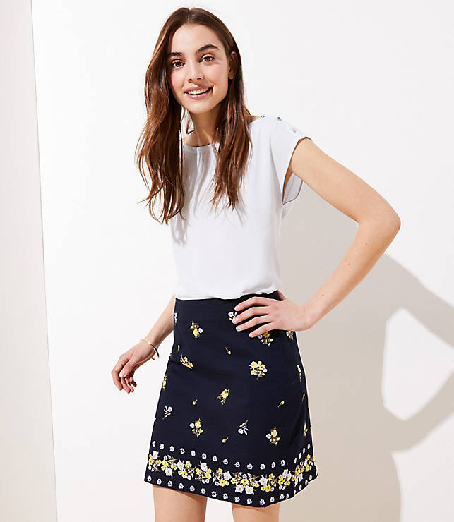 374035848ca89 Embroidered Shift Skirt