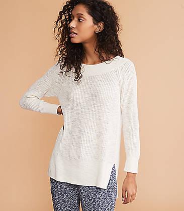 08ce71e6 Lou & Grey Ribtrim Tunic Sweater