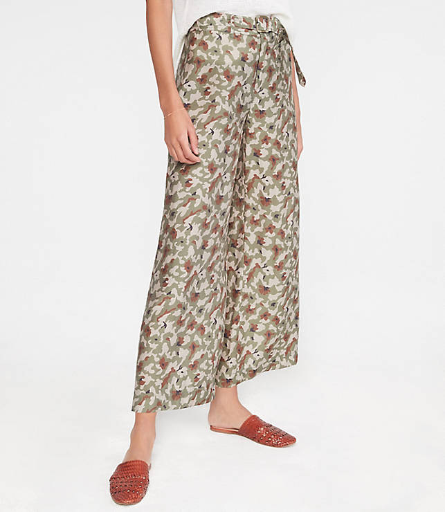 88691e33da Lou & Grey Camo Belted High Rise Wide Leg Pants | Lou & Grey