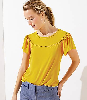 06ed32add9 Beige & Yellow Tops for Women | LOFT