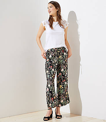 f9c54b54327 Floral Fluid Drawstring Pants