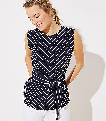 ede3e5dededd Chevron Wrap Waist Top