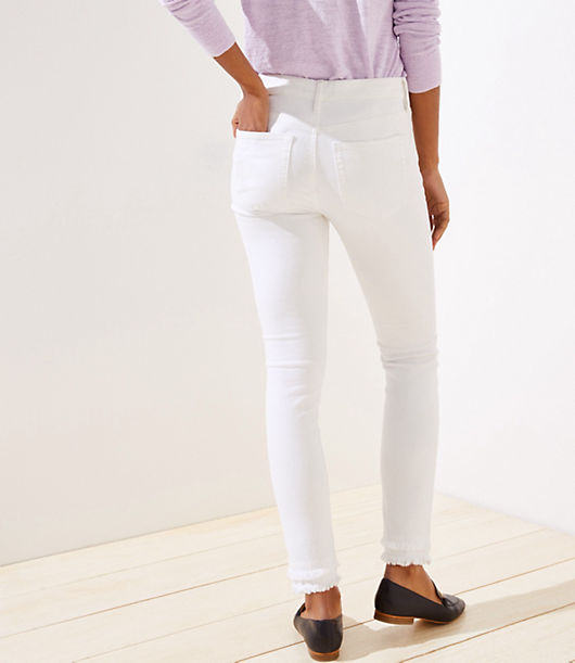 354d4f6d39 Image 3 of 3 - Modern Double Frayed Slim Pocket Skinny Jeans in White