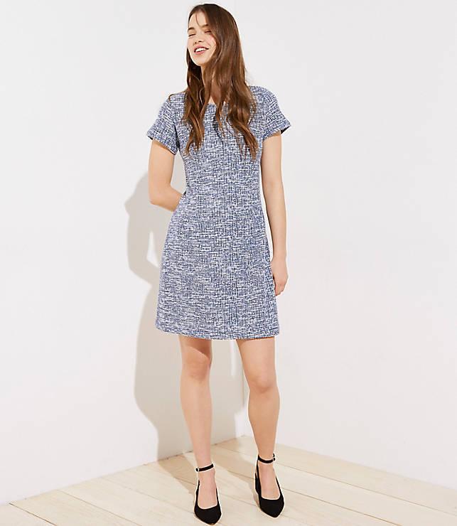 226a9372 Textured Back Cutout Sheath Dress | LOFT