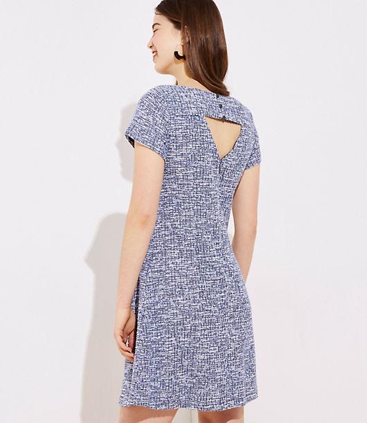 21aef9ee Image 3 of 3 - Textured Back Cutout Sheath Dress
