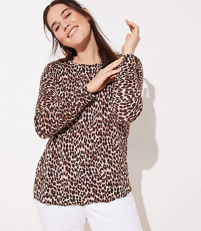 44611c582cb LOFT Plus Leopard Print Sweater