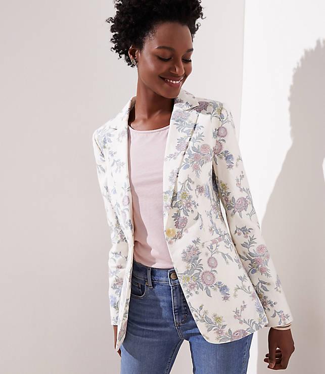 Petite Floral Modern Blazer