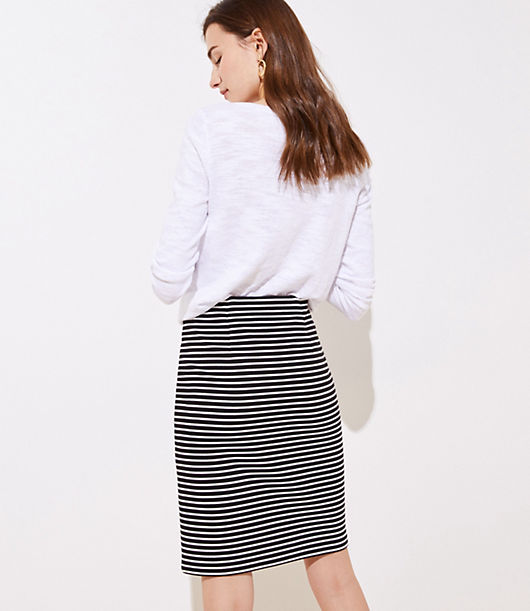 d66e0d2f69 Image 3 of 3 - Petite Striped Pull On Pencil Skirt