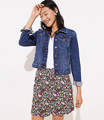 1aa25f2bc1fd7 Petite Floral Smocked Skirt