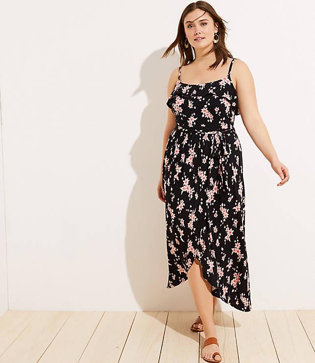 aff71402ff LOFT Plus LOFT Beach Floral Tie Waist Wrap Dress