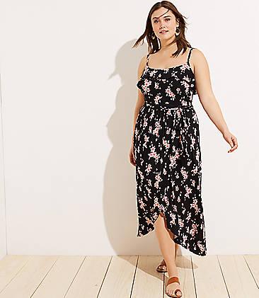 fd791a850eb LOFT Plus LOFT Beach Floral Tie Waist Wrap Dress